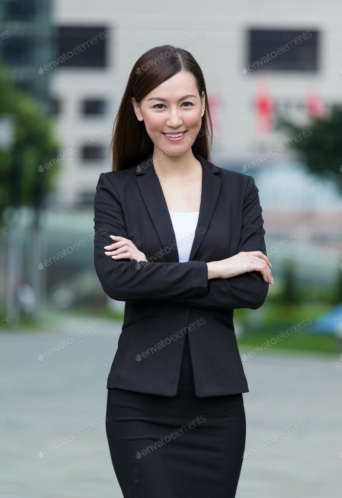 Confident businesswoman at outdoor