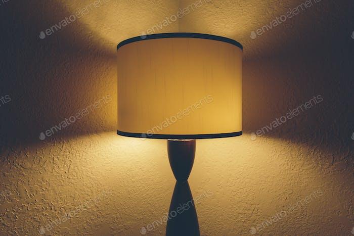Illuminated light in hotel room