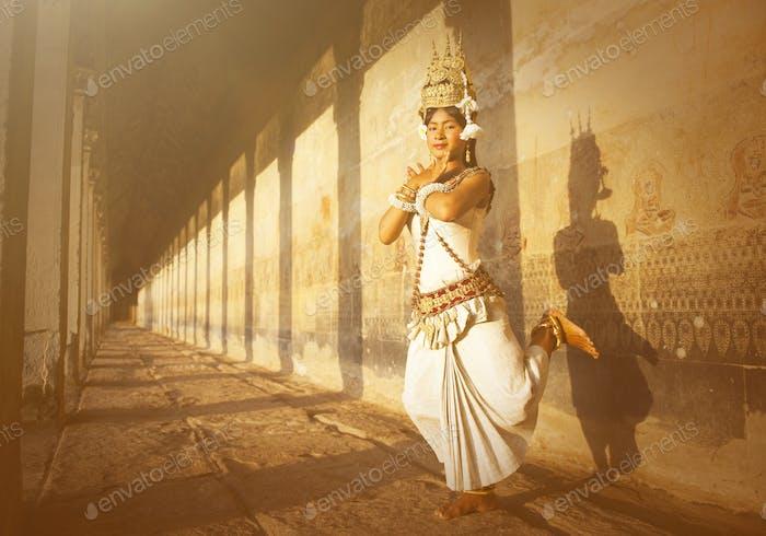 Aspara Dancers at Angkor Wat Concept