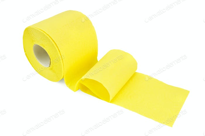 Toilet paper yellow