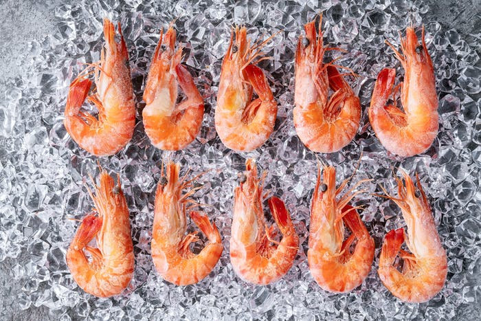 Extra large tiger prawns