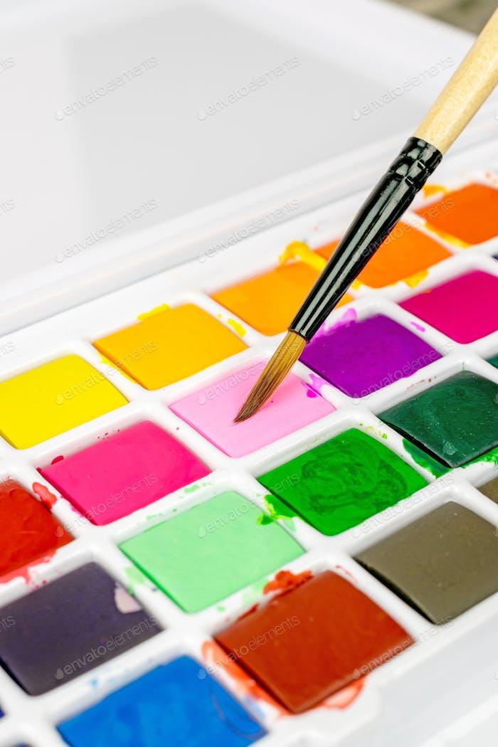 Pintar pinceles y pinturas para artistas