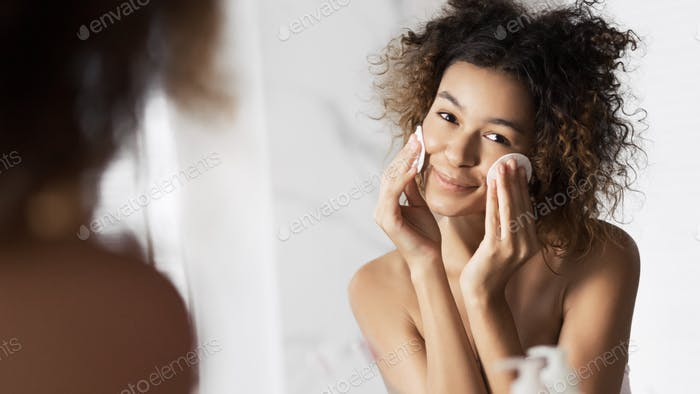 All skin types cleansing concept