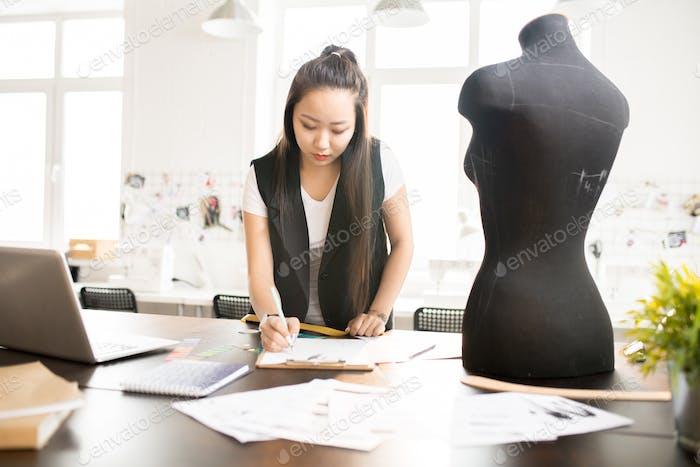Asian Woman  in Atelier Workshop