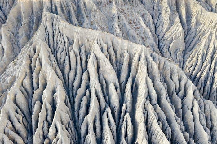die Schlucht Nahaufnahme auf dushanzi Grand Canyon, Xinjiang Landschaft