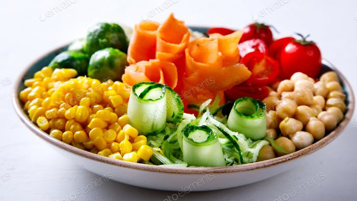 Buddha Bowl Vegetarian.Food or Healthy Diet concept.