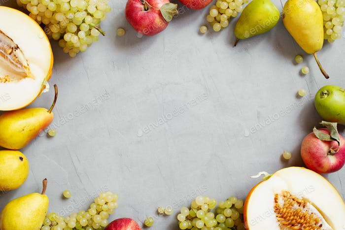 Fresh Seasonal Fruits Background