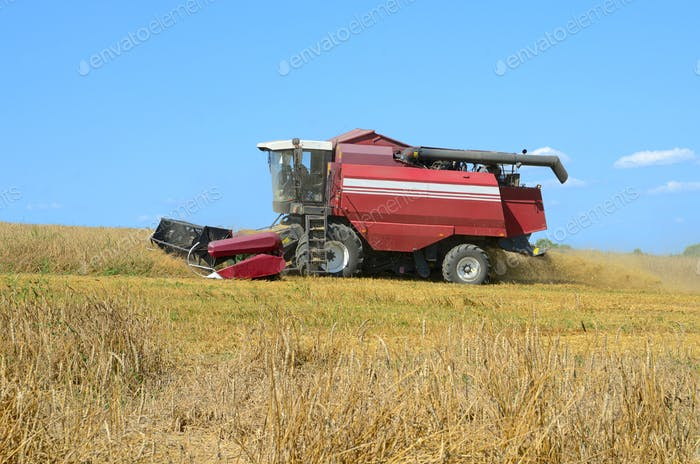 Harvesting in a field