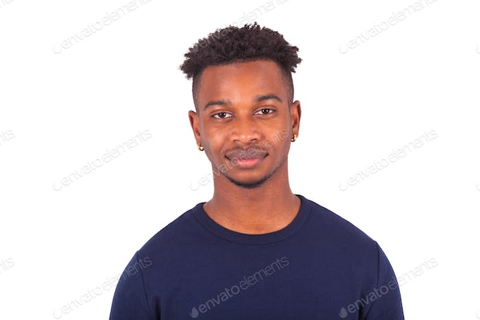 Young african american man isolated on white background - Black