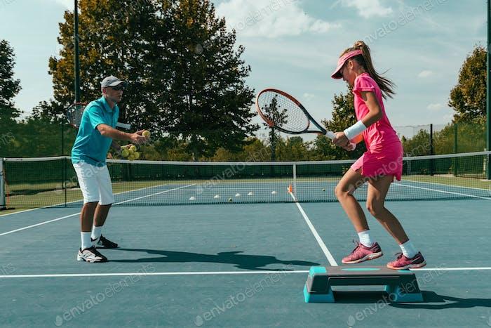 Tennis training