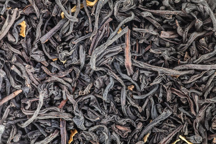 Extreme Closeup of Tea Leaves