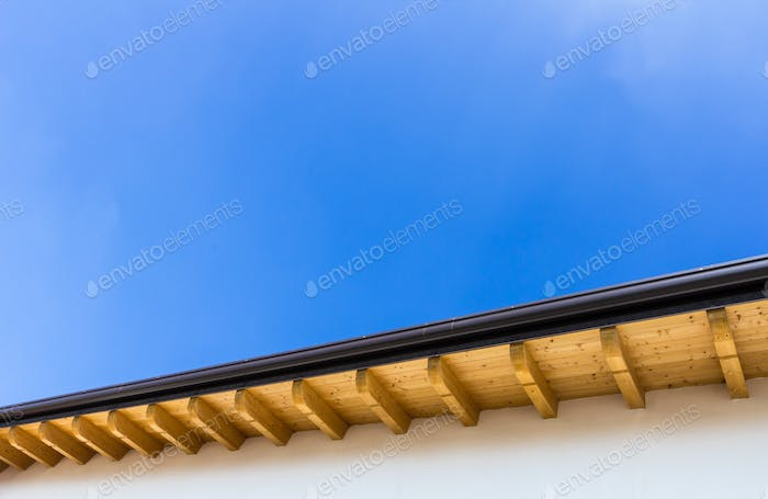 New roof with gutter
