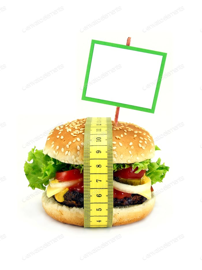 Cheeseburger with Measuring Tape