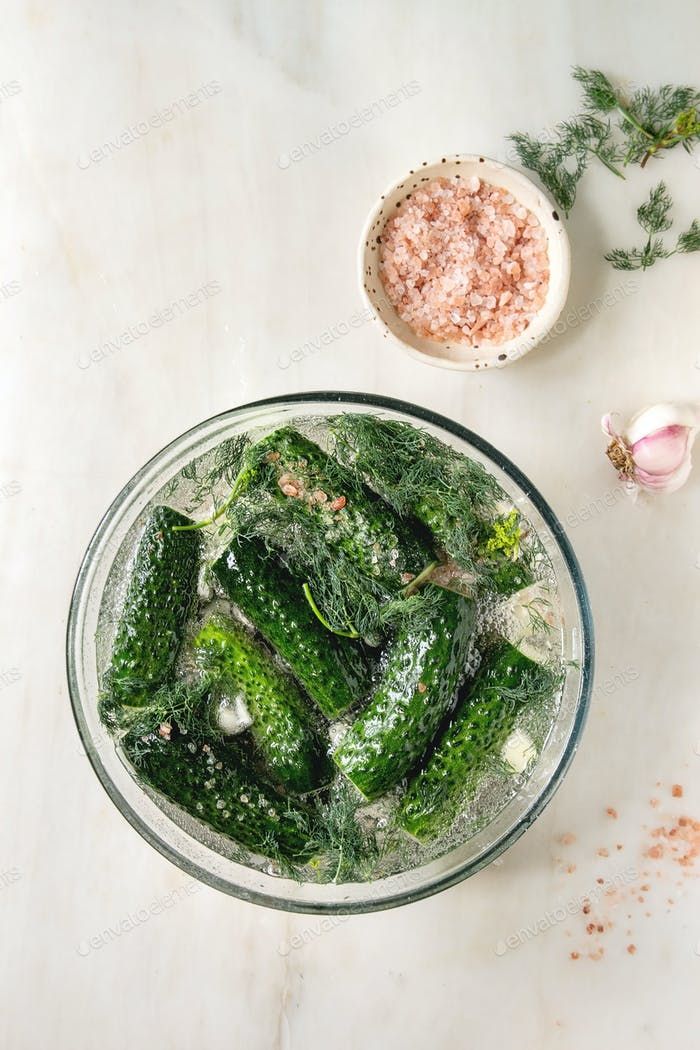 Cucumbers ready for pickled