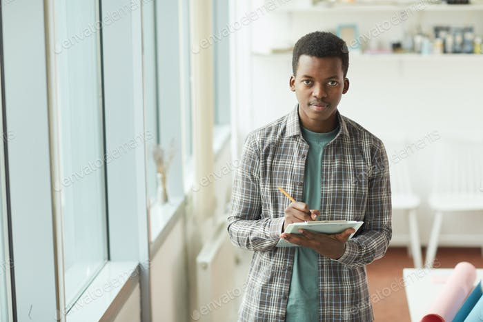 African Young Man in Internship