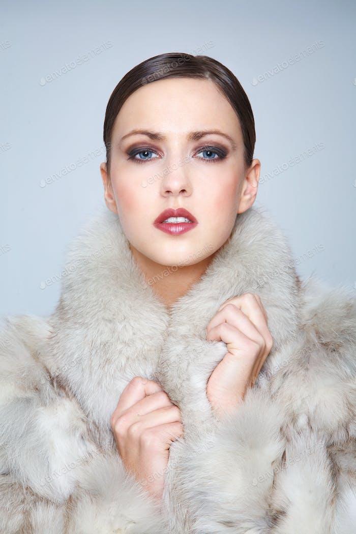 Fashion Model in Fur
