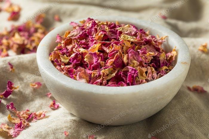 Raw Dry Organic Rose Petals