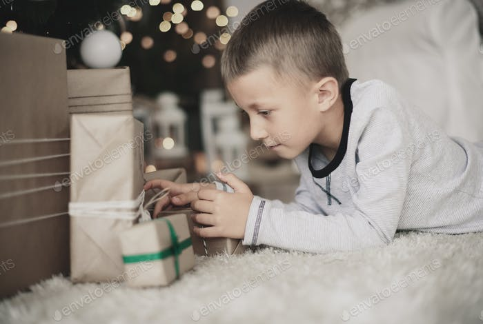 Interested child looking for a gift for him
