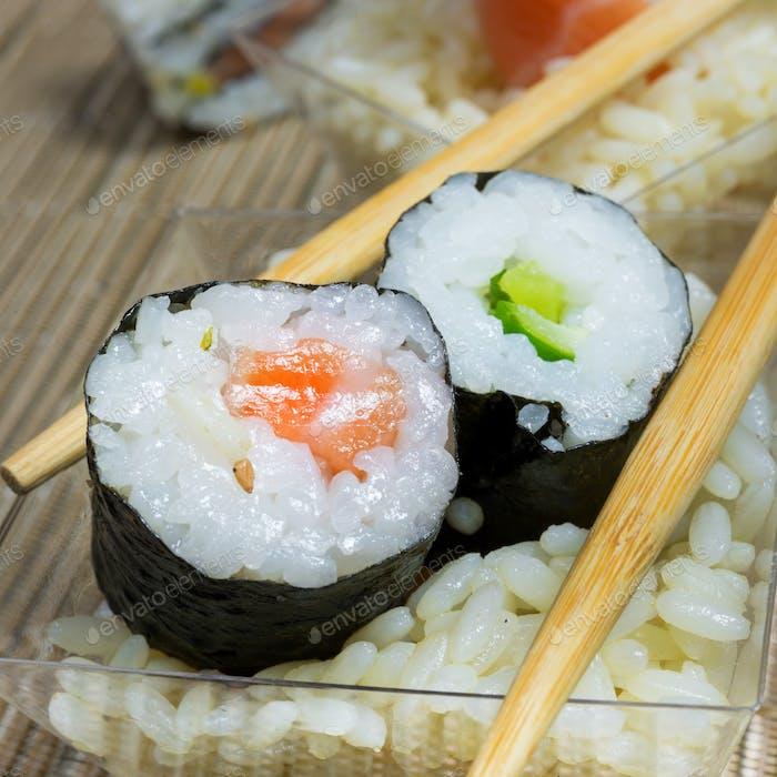 dish of sushi