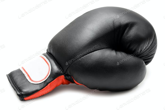 Single Boxing Glove Isolated on a White Background