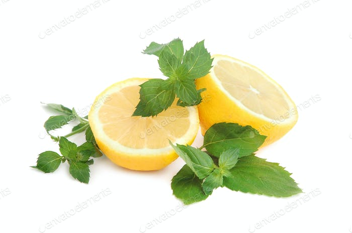 Lemon and mint