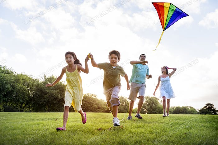 Kite Carefree Activity Summer Joyful Fun Concept