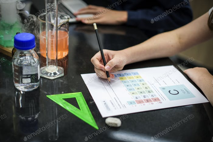 Chemical school class learning