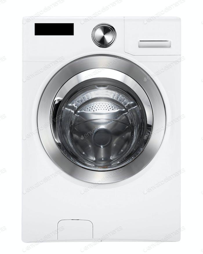 Washing machine on white isolated