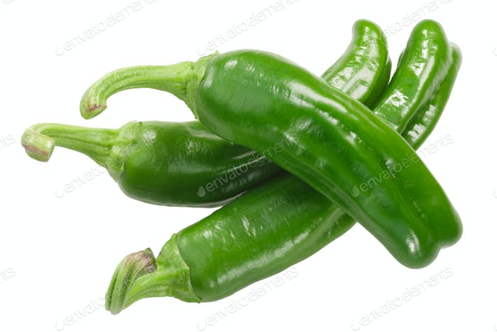 Padron peppers c. annuum, whole pods, top