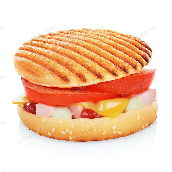 Grilled sandwich isolated