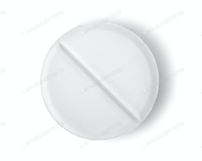 Tablet aspirin isolated Path