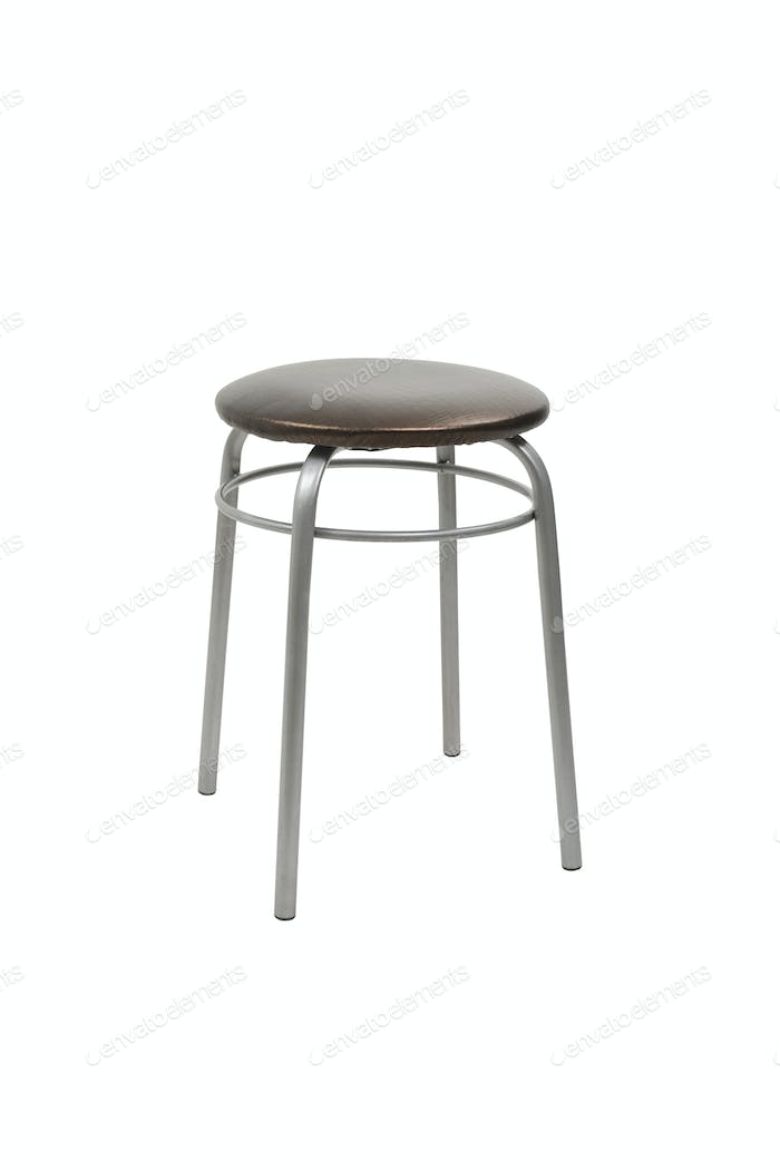 Stool on a white background, isolated, studio light