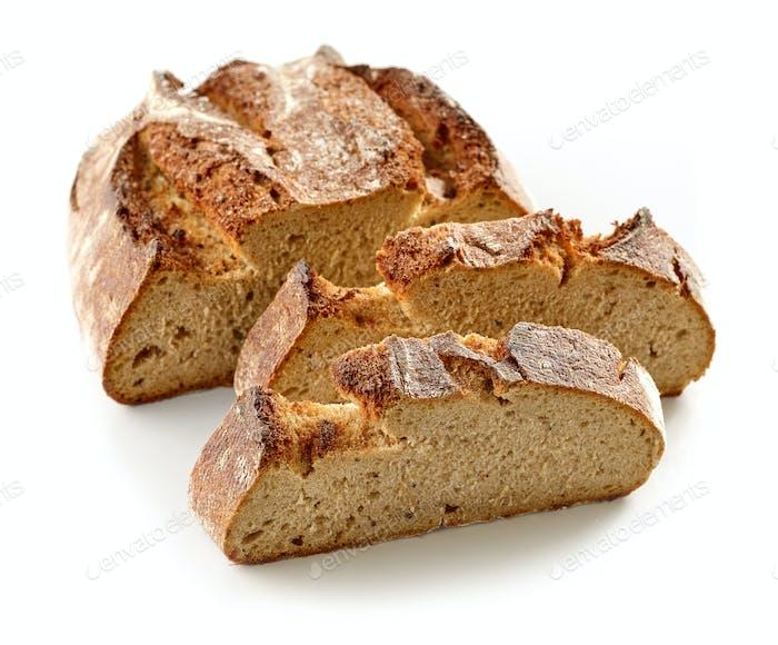 freshly baked sliced bread
