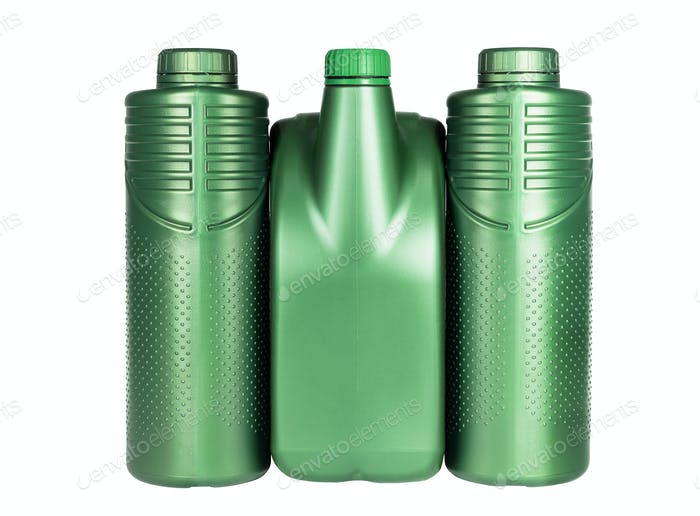 Green Plastic Containers for Engine Lubricants