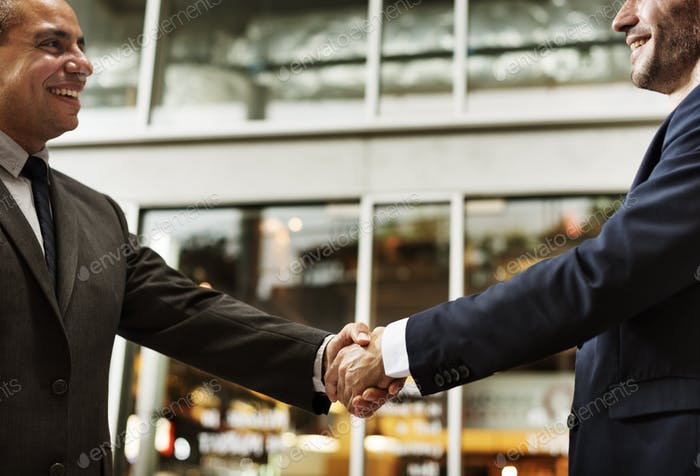 Business Handshake Deal Success Concept