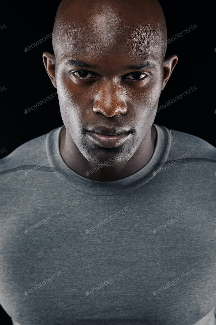 Confident young african man
