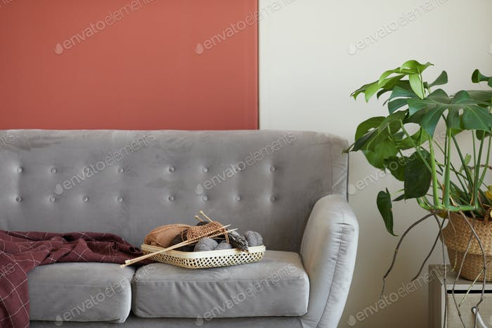 Comfortable sofa in the room