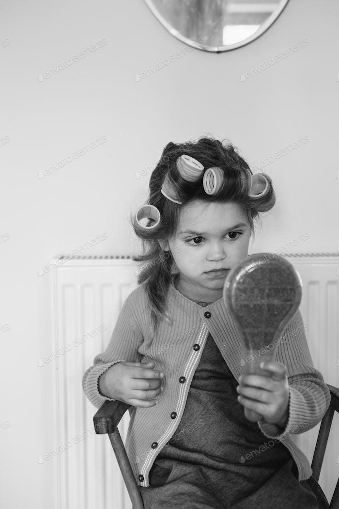 Mädchen Lifestyle Salon Frisur Trendy Konzept