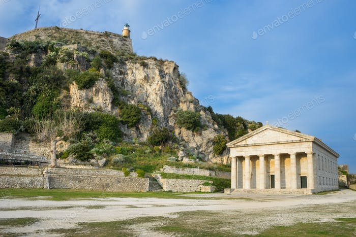 Church of Saint George, in the Old Fortress at Corfu island, Gre