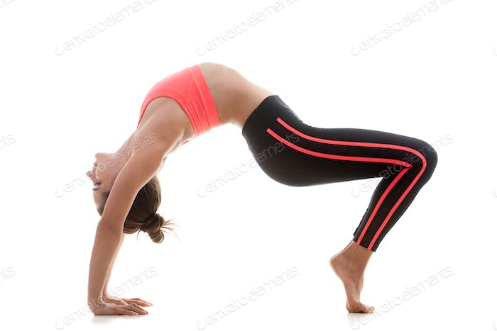 Sporty girl stretching