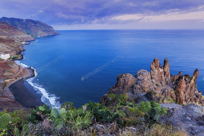 Tenerife panorama at dusk