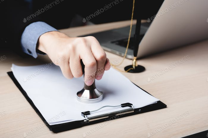business finance document approve, businessman signing contract paperwork