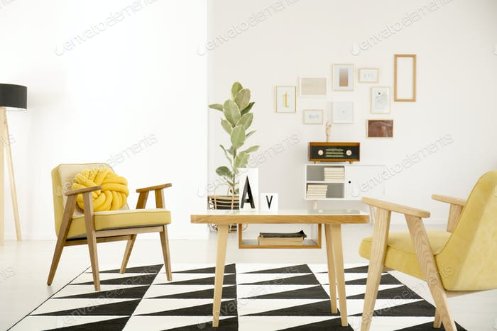 Vintage living room interior