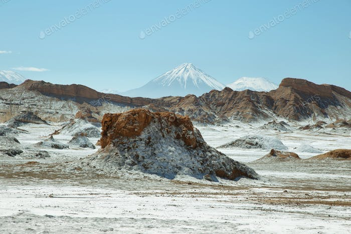 Desert landscape of Valley of the Moon