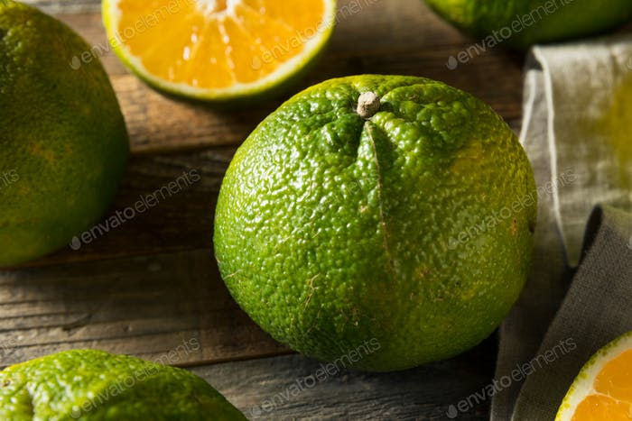 Raw Green Organic Ugli Fruit