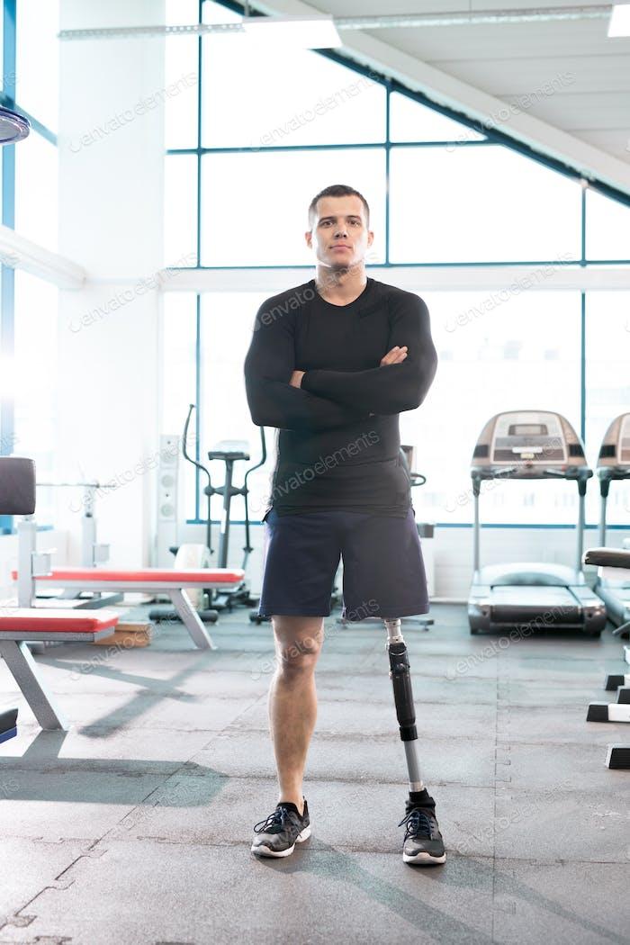 Handsome Adaptive Sportsman Posing