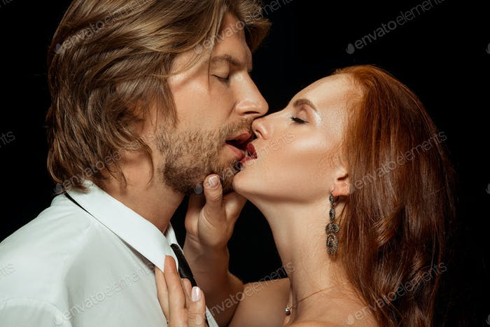 Real passion. Beautiful young loving couple