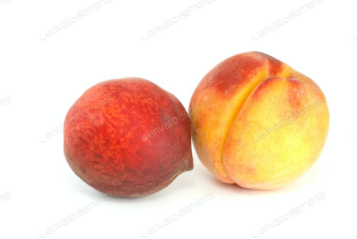 Orange and red peaches