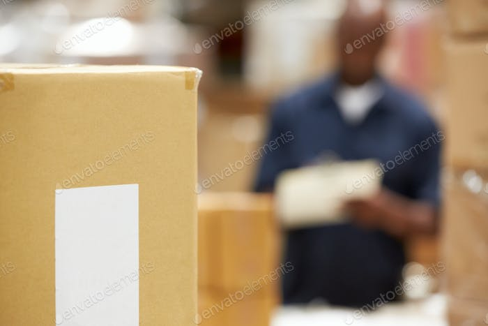 Package Ready For Dispatch In Warehouse