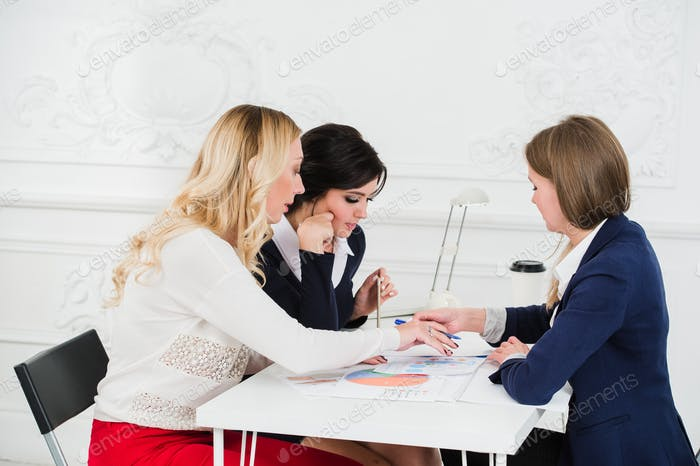 Casual business team having a meeting in the office